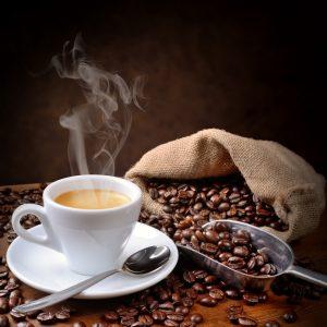 Kaffee-Genuss Kaffee und Bohnen